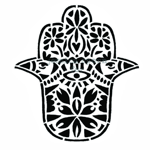Hamsa Blessing - JS5245H - Rubber Art Stamp