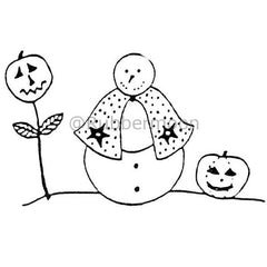 pumpkin flower snowman