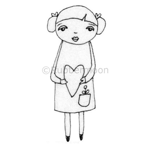 Kae Pea | KP5001F - Heart-Full - Rubber Art Stamp