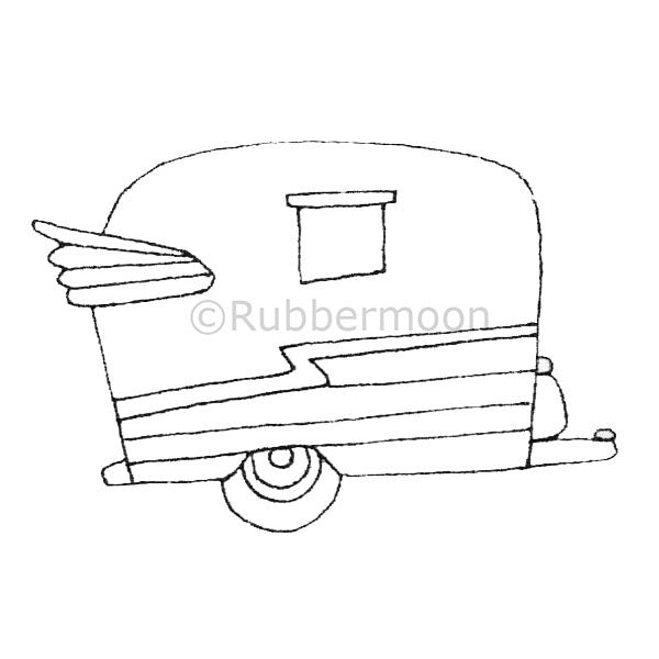 Airlyte Camper - KP5004F - Rubber Art Stamp
