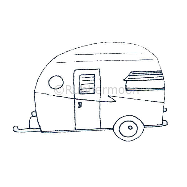 Shasta Camper Trailer - KP5006F - Rubber Art Stamp