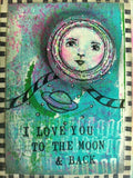 Kae Pea | KP5009F - New Moon - Rubber Art Stamp