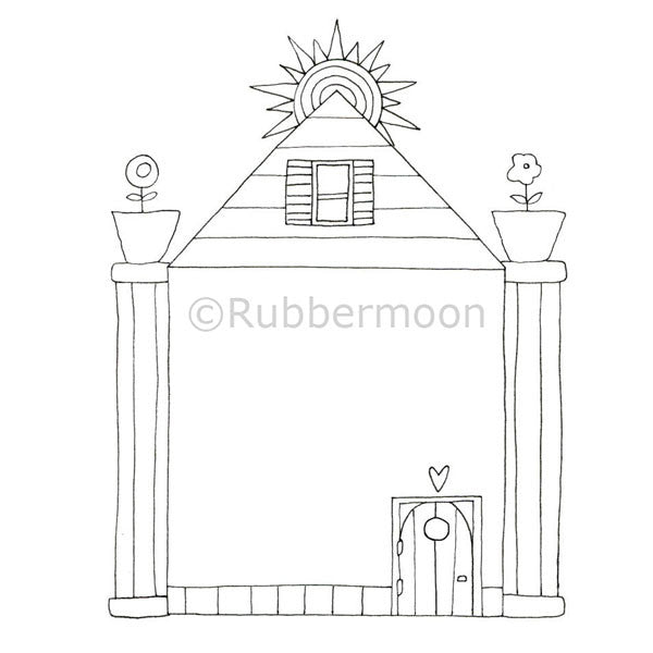 Kae Pea | KP5014J - Heart of the Home Border - Rubber Art Stamp