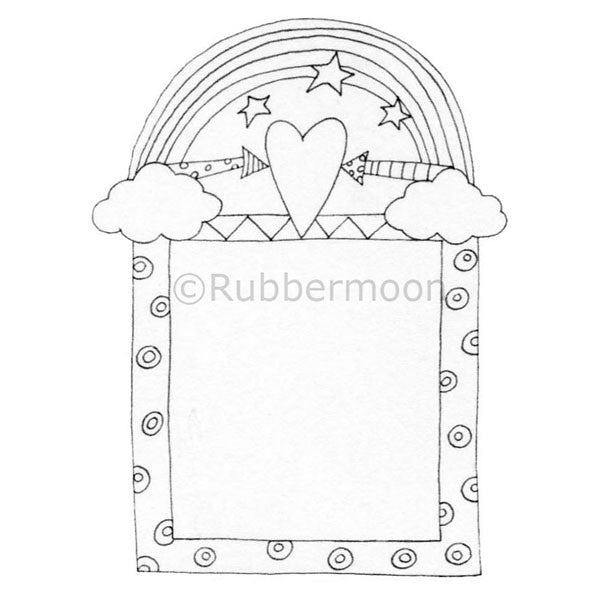 Kae Pea | KP5015J - Trust Your Heart Border - Rubber Art Stamp