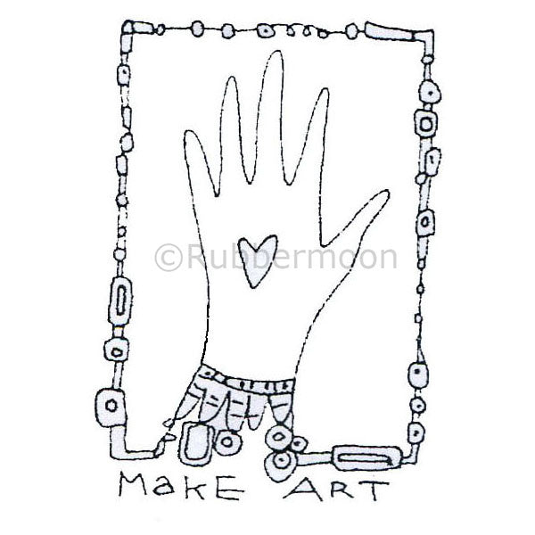 Kae Pea | KP5021F - Make Art - Rubber Art Stamp