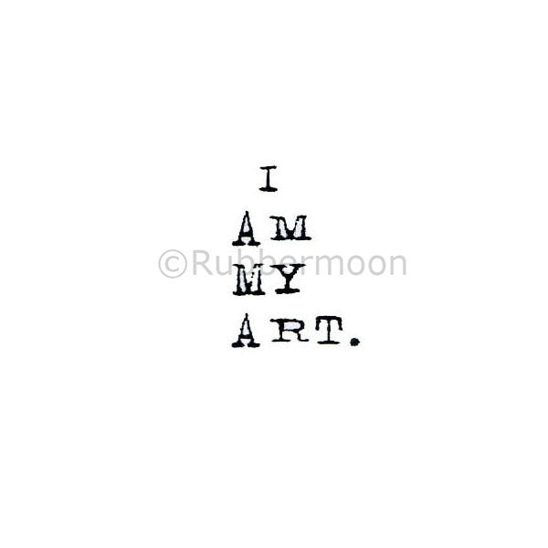 Kae Pea | KP5022B - I Am My Art - Rubber Art Stamp