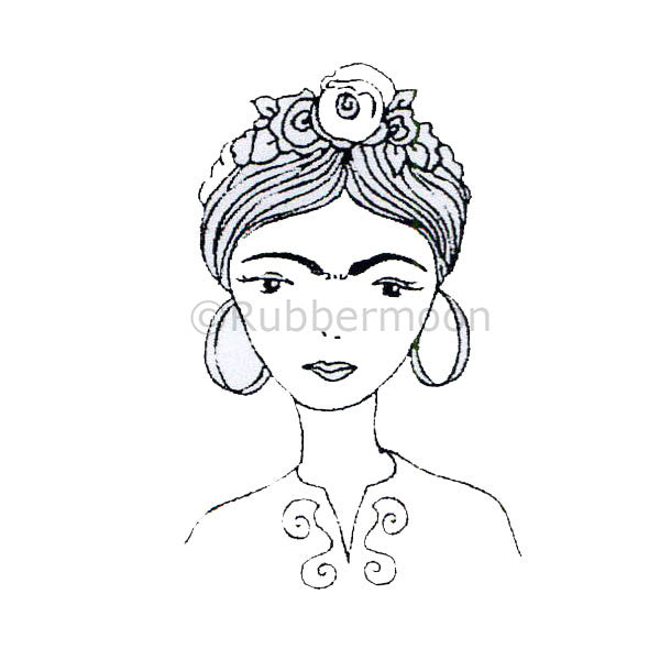 Kae Pea | KP5025F - Frida - Rubber Art Stamp