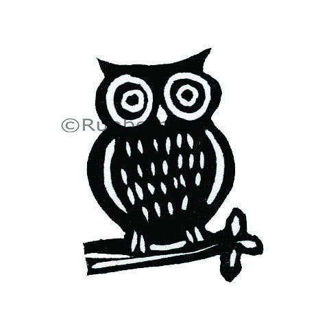 Kae Pea | KP5026C - Hoot Owl - Rubber Art Stamp
