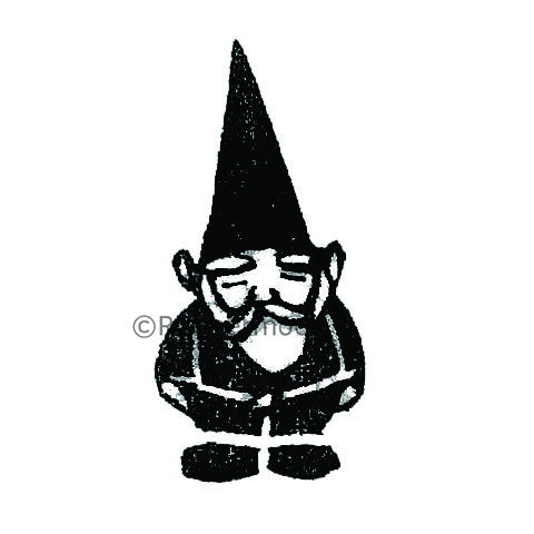 Garden Gnome - KP5029C - Rubber Art Stamp