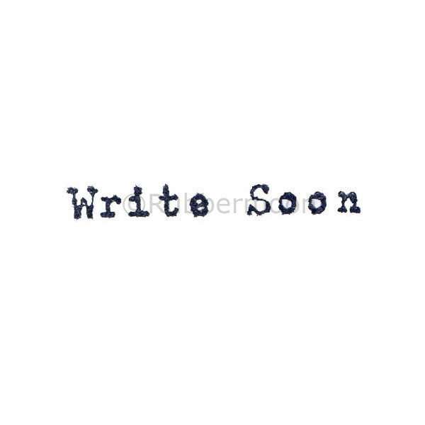"Kae Pea | KP5057C - ""Write Soon"" - Rubber Art Stamp"