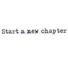 start a new chapter