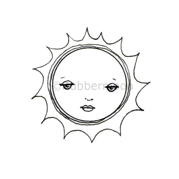 Kae Pea | KP5072F - Sun Sweet - Rubber Art Stamp