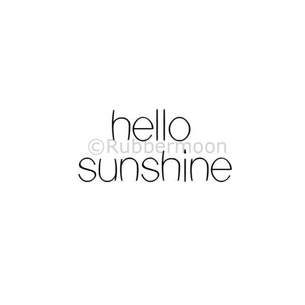 Hello Sunshine - KP5073C - Rubber Art Stamp