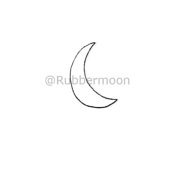 Kae Pea | KP5109B - Positive Crescent - Rubber Art Stamp