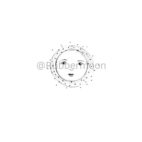Little Luna New Moon - KP5153C - Rubber Art Stamp
