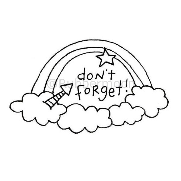 "Kae Pea | KP5184F - ""Don't Forget!"" - Rubber Art Stamp"