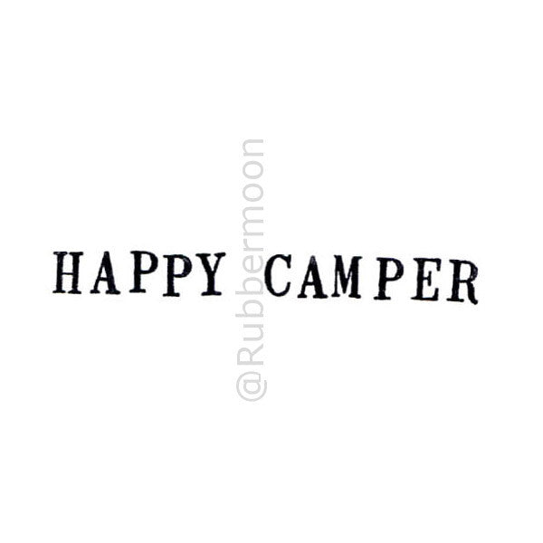 Happy Camper - KP5186D - Rubber Art Stamp
