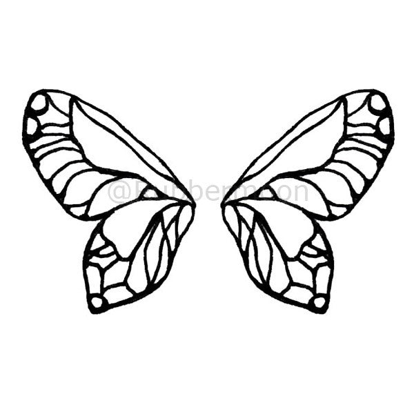 Kae Pea | KP5190H - Wings - Rubber Art Stamp