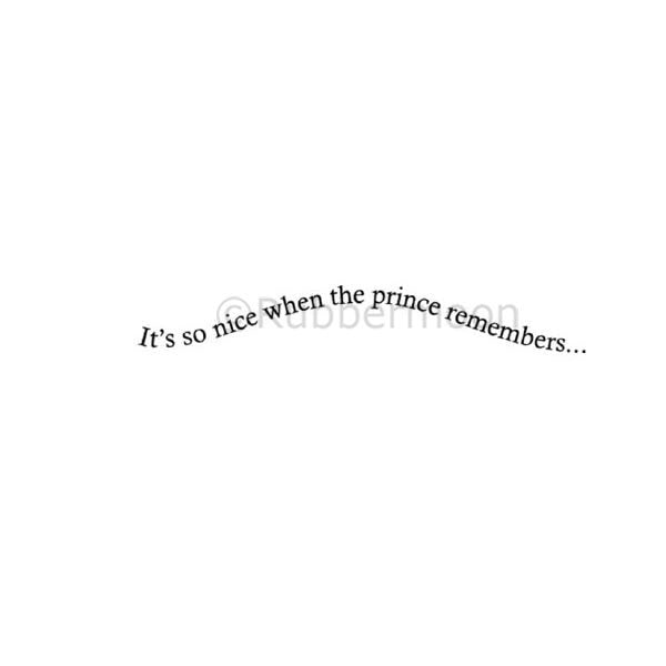 "Kae Pea | KP5192C - ""...the prince remembers"" - Rubber Art Stamp"