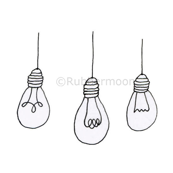 Bright Ideas (small)- KP5202F - Rubber Art Stamp