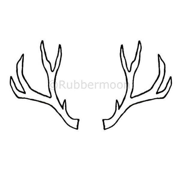 Antlers - KP5198H - Rubber Art Stamp