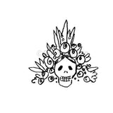 Kae Pea | KP5297E - Skull Topper - Rubber Art Stamp