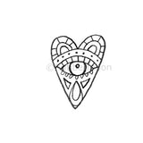 Milagros | Eye Heart You - KP5299E - Rubber Art Stamp