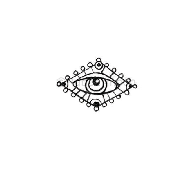 Kae Pea | KP5301D - Evil Eye - Rubber Art Stamp