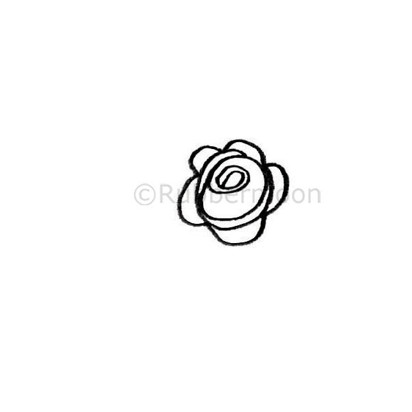 Kae Pea | KP5306C - Small Rosette - Rubber Art Stamp