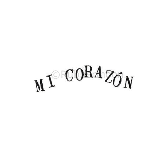 "Kae Pea | KP5309C - ""Mi Corazon"" - Rubber Art Stamp"