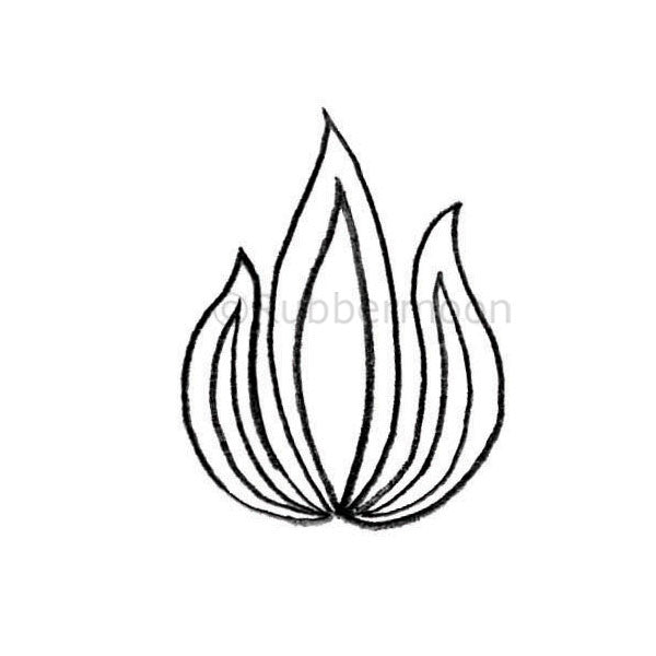 Flames - KP5314E  - Rubber Art Stamp