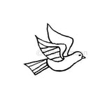 Pajaro (R) - KP5326E - Rubber Art Stamp