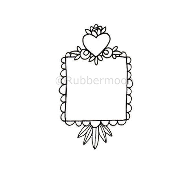 Tiny Heart Niche - KP5341F - Rubber Art Stamp