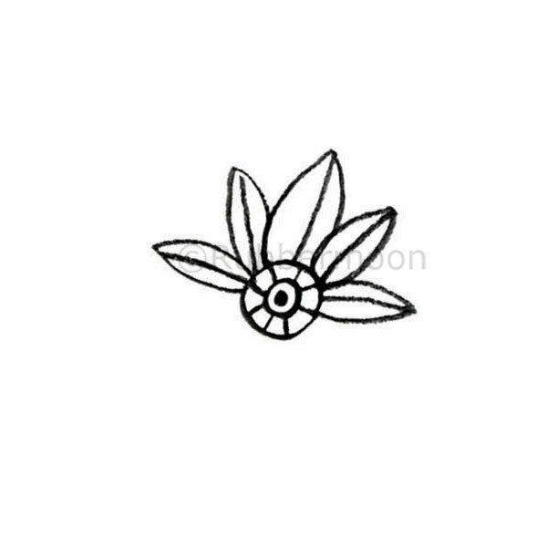 Kae Pea | KP5342D - Hoja Leaf - Rubber Art Stamp