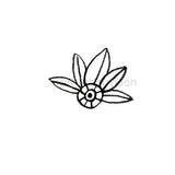 Hoja Leaf - KP5342D - Rubber Art Stamp