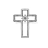 Star Cross - KP5343D - Rubber Art Stamp