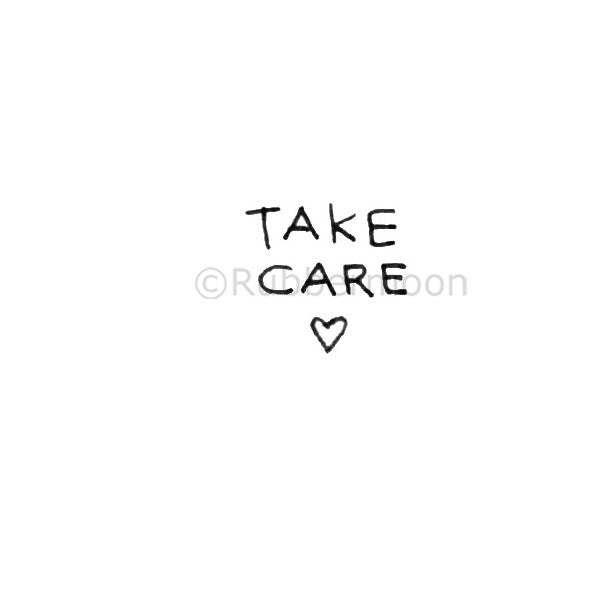 Kae Pea | KP5387A - Take Care - Rubber Art Stamp