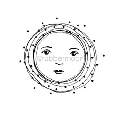 Kae Pea | KP7276J - Full Moon - Rubber Art Stamp