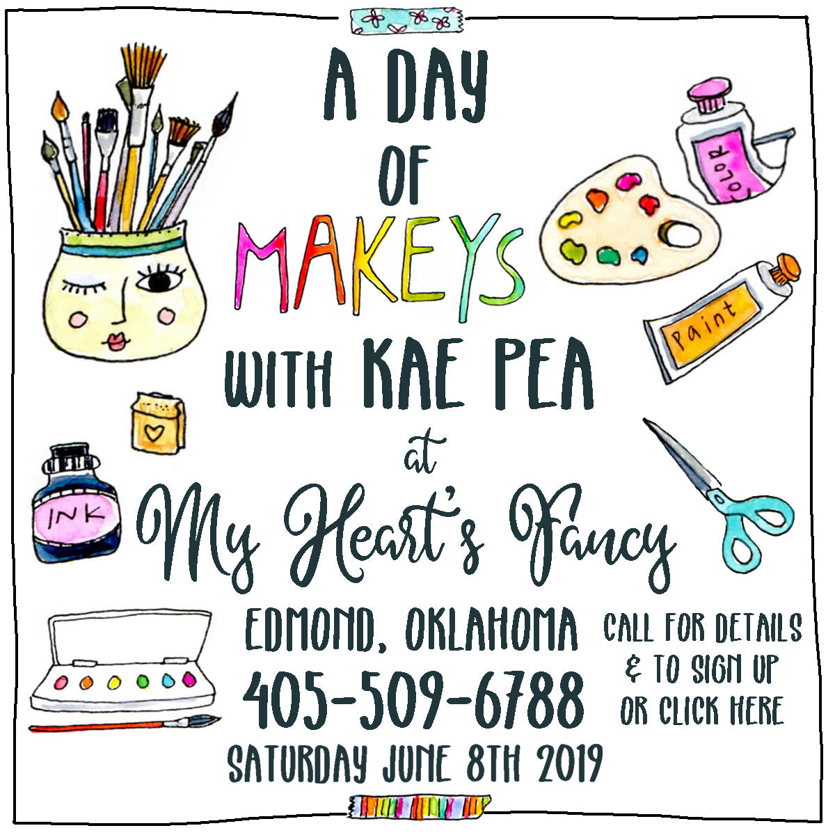Join Kae Pea and The 'Moon for a day of Makeys @ My Hearts Fancy