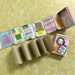 Mini Accordion Match Box Tickets