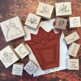 Milagros Stamp Set 3 (14 stamps) | MIL03 | Rubber Art Stamps
