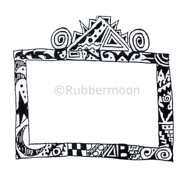 Crazy Frame - MK1071J - Rubber Art Stamp