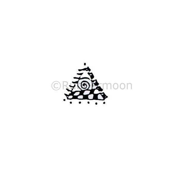 Marylinn Kelly | MK160A - Spiral Triangle - Rubber Art Stamp