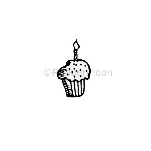 Small Cupcake - MK161AA - Rubber Art Stamp