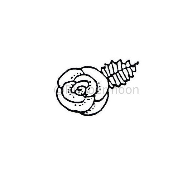 Marylinn Kelly | MK165A - Single Flower w/ Leaf - Rubber Art Stamp