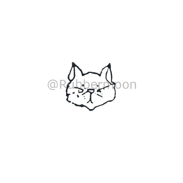 Cat Face - MK168AA - Rubber Art Stamp