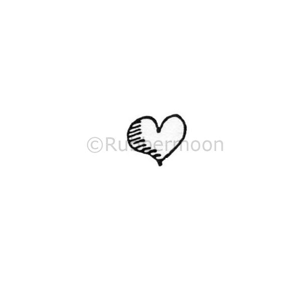 Itty Bitty Heart - MK169A - Rubber Art Stamp