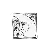 Marylinn Kelly | MK173C - Moon & Stars Postage - Rubber Art Stamp