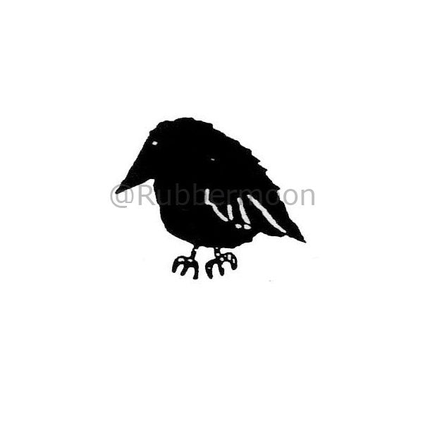 Marylinn Kelly | MK197C - Chubby Crow (sm) - Rubber Art Stamp