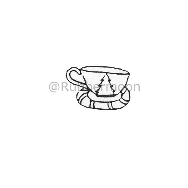 Marylinn Kelly | MK199A - Xmas Cup - Rubber Art Stamp